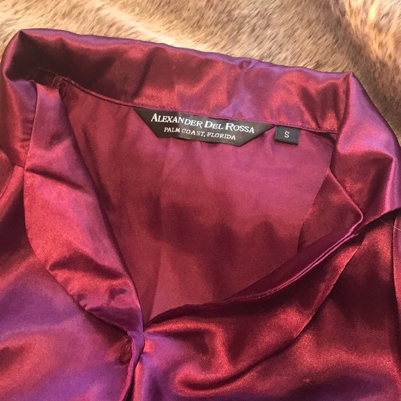 deb53fc814 Alexander Del Rossa Plum Satin Pajamas